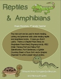 Reptile and Amphibian Mini Unit for ELA