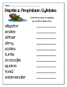 Reptile and Amphibian Mini Unit for ELA