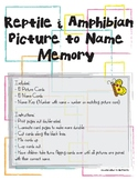 Reptile and Amphibian Picture and Name Memory