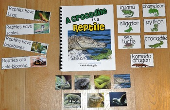 """Reptiles Adapted Book--""""A Crocodile is a Reptile"""" (w/Real Photos)"""
