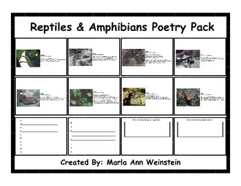 Reptiles & Amphibians Poetry Pack