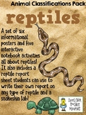 Reptiles - Animal Classifications Pack - Posters & Notebook pages