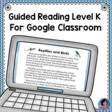 Reptiles & Birds Reading Comprehension Passage & Questions for Google Classroom