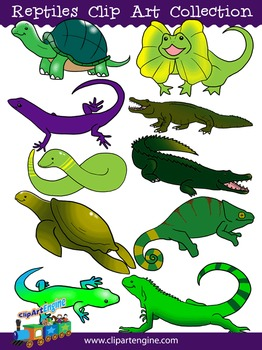 Reptiles Clip Art Collection