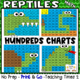 Reptiles Hundreds Charts l MATH CENTERS l SCIENCE LESSON