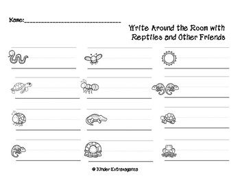 Reptiles and Other Friends Math and Literacy Mini Bundle