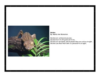 Reptiles Poetry Pack #2