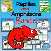 Reptiles and Amphibians Bundle of Writing Flap Books - ESL Spring