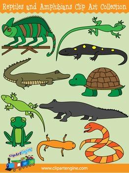 Reptiles and Amphibians Clip Art