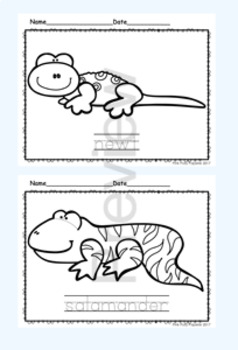 Reptiles and Amphibians Color and Trace