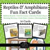Reptiles and Amphibians Unit Activity - Fun Fact Cards for Games, Bulletin Board