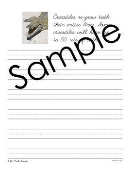 Reptiles and Amphibians Unit - Copywork - Cursive - Handwriting