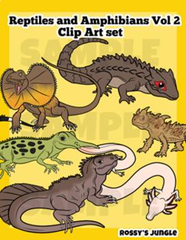 Reptiles and Amphibians Vol. 2 Clip Art set