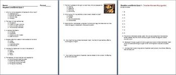 Reptiles and Birds Quiz 1