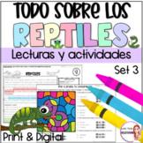 Reading comprehension in Spanish/lectura de comprension/Reptiles
