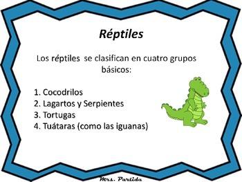 Reptils Science Reptiles-Bilingual Stars Mrs Partida