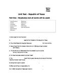 Republic of Texas Exam