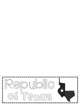 Republic of Texas Flip Book {TEKS ALIGNED}