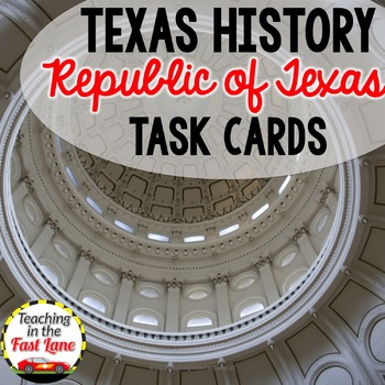 Republic of Texas Task Cards