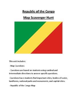 Republic of the Congo Map Scavenger Hunt