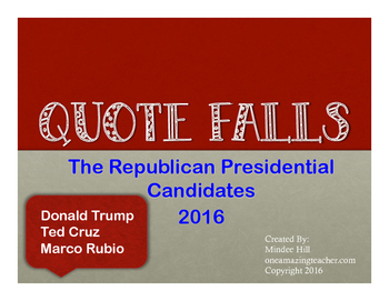 Republican Candidates 2016 QuoteFalls