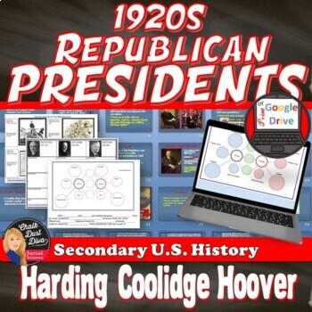 1920's Republican Leadership Presentation & Political Cartoon Analysis