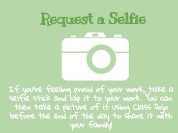 Request a Selfie - Class Dojo