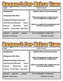 Request for Extra Time Late Work Slips and Teacher Recording Sheets