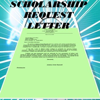 Request for Scholarship (from Student POV)--- {EDITABLE)