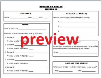 Request to Retake form