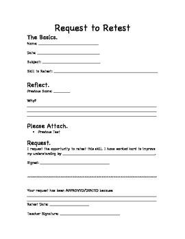 Request to Retest