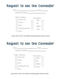 Request to see the Counselor Form