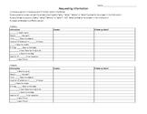 Requesting Information - 2 Activities