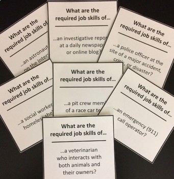 Required Job Skills Career Exploration Activity