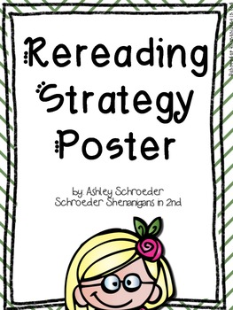 Reread Strategy Poster