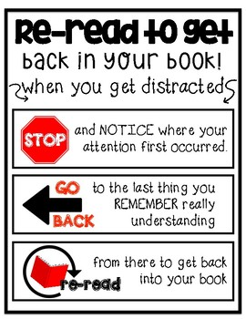 Reread to Get Back into Your Book Anchor Chart