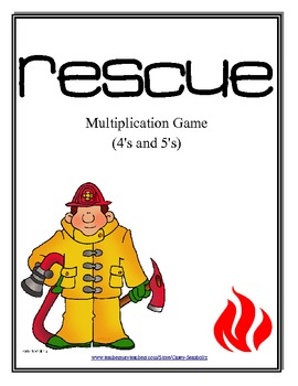 Rescue: Math Multiplication Board Game (Multiply with 4's