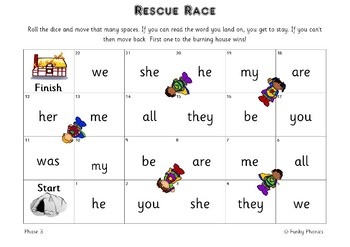 Rescue Race - Tricky Word Games (Phases 2-5)