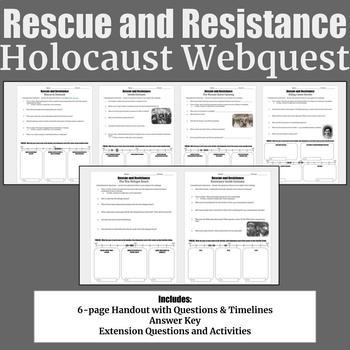 Rescue and Resistance Holocaust Webquest