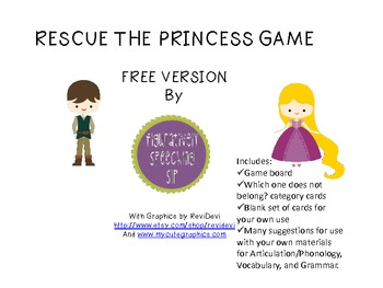 Rescue the Princess from the Tower game {freebie}