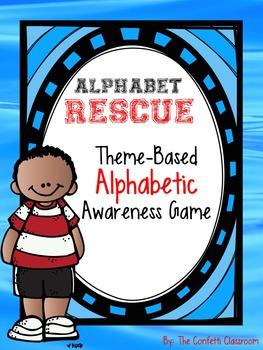 Rescuing Letters - Water Themed Alphabet Matching Game