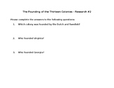 Research 2- The Founding of the Thirteen Colonies