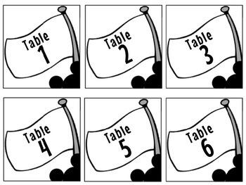 Table Numbers - Disney Theme (editable)
