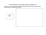 Research 7- The Founding of the Thirteen Colonies