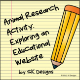 Webquest Research Explore Animals No Prep Computer Fun Printables