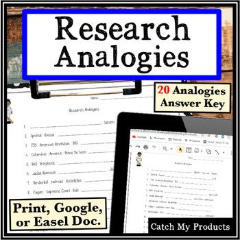 Research Skills Worksheet