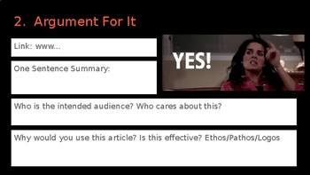 Research Argument Template for Google Slides