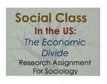 Research Assignment for Sociology  - Social Class in the US - Economic Divide