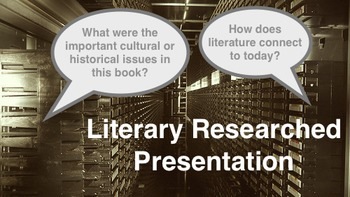 Research Based Presentation Assignment for Literature Classes