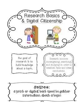 Research Basics and Digital Citizenship